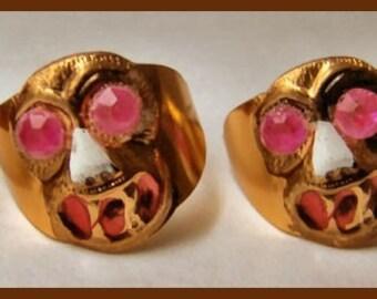 1960's Gold Tin GORILLA Toy Ring