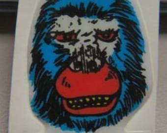 1972 King Kong Puffy Sticker MINT