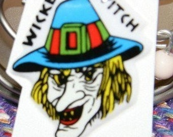 RARE1970s Wicked Witch Puffy Sticker HALLOWEEN
