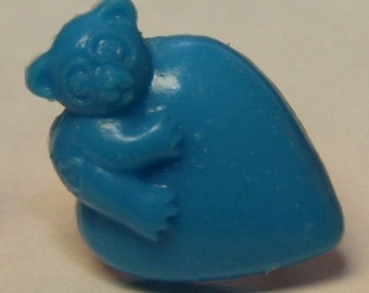 1972 Gum Machine Two-Piece Ring BEAR ON HEART