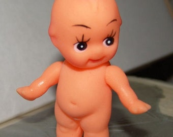 1960s Small Rubber KEWPIE Doll from Original Case