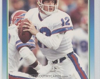 1990 Score JIM KELLY Hall of Famer QB Football Card BILLS