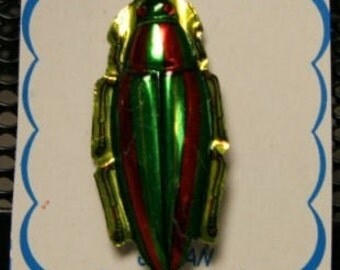 FOUR 1950s Vintage Aluminum Badges JAPAN Japanese Beetle