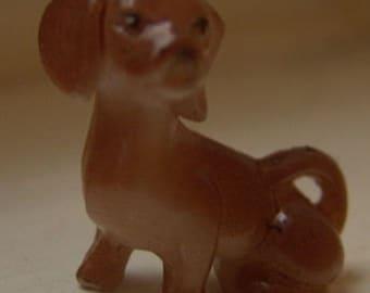 1960s Mini Dog Figurine HAND PAINTED Dachsund 1