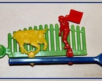 1960's Plastic Bullfighter Action Toy MIP
