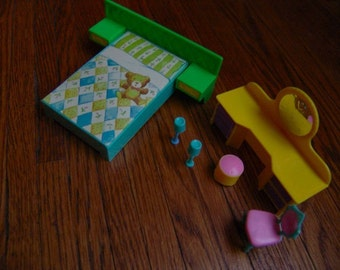 1960s Doll House BEDROOM Furniture RARE