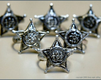 1950's Tin Deputy Sheriff Toy Ring