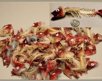 1960's Weird Rubber Dead Fish Skeletons HILARIOUS