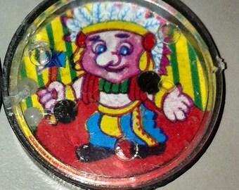 1950s Souvenir Circus Clown Patience Puzzle BIG-NOSE INDIAN CHIEF