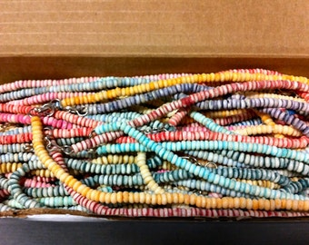8- Vintage 1960s-70s CANDY Necklaces Hippie Movement