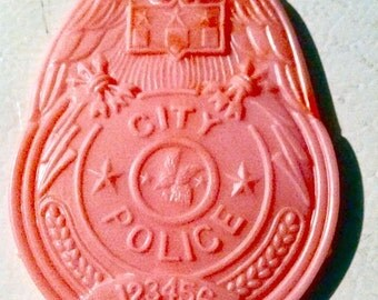 1960s-70s Plastic City Police Badge for Pocket is 3 inches