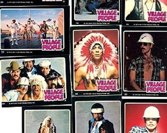RARE 1979 Donruss VILLAGE PEOPLE Music Stars 20 Card Set