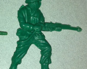 Vintage 1950s Army Man in Large Puffy Style Flame Thrower