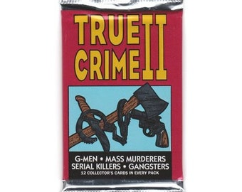 Unopened Pack of Controversial TRUE CRIME 2 Cards