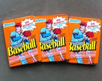 3 Unopened Packs of 1990 Donruss Baseball Cards- 48 cards