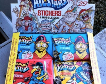 FULL 36 Pack Box of 1988 Awesome ALL STARS Packs - Unopened