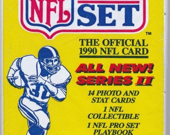 Four UNOPENED 1990 Packs of the OFFICIAL NFL Pro Set Football Cards from Series Two 56 cards