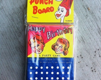 1950s Birthday Party Punch Card UNUSED and Mint in Package