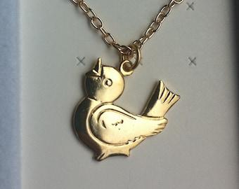 1960-70s Kiddo Tin BIRDY Pendant