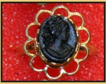 1950's Coal Store Cameo Ring RARE gold