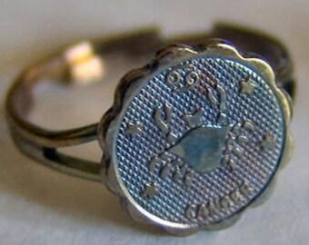 1960's Zodiac Gum Machine Ring CANCER