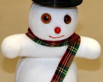 1970s Flocked Christmas Novelty SNOWMAN