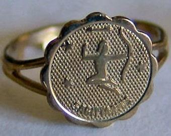 1960's Zodiac Gum Machine Ring SAGITARIUS