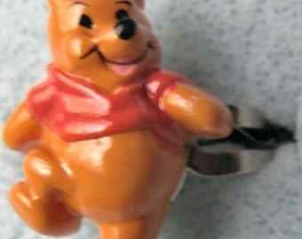 1970's Winnie the Pooh Gum Machine Ring WALKING