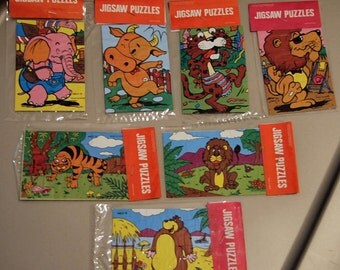 RARE 1970s Zoo Give-Away Jigsaw Puzzle LION