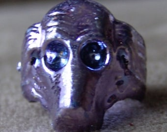 Original 1950s-60s Penny King Ring DOG HEAD
