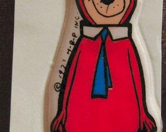 Large 1977 HANNA BARBARA Puffy Sticker YOGI
