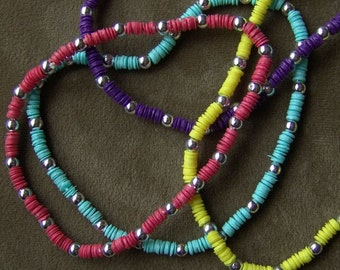 1981 Little Girl Sequin Necklace PURPLE