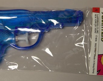 1974 Mint In Package 9MM Squirt Gun BLUE large