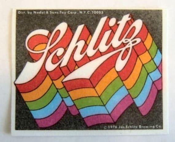 1976 Schlitz Beer Rainbow Patch VINTAGE Rare GAY PRIDE