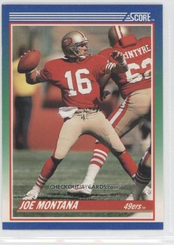 1990 Score No 1 - JOE MONTANA Hall of Famer QB Football Card