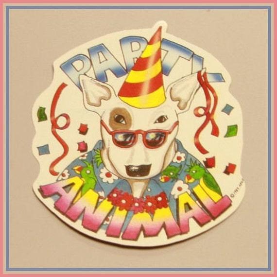TEN WHOLESALE 1987 Spuds McKenzie Party Animal Stickers MINT