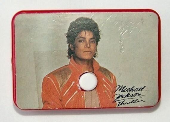 Vintage 1984 Michael Jackson Thriller Album Flag Pin LEATHER JACKET