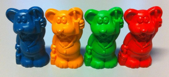 1987 TEST Crayon Animal Pencil Topper BUSINESS MOUSE