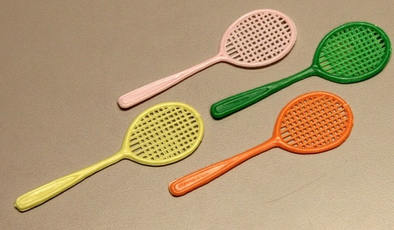 Four 1950s Cracker Jack Tennis Rackets HARD TO FIND