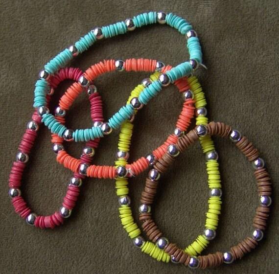 1981 Little Girl Sequin Bracelet YELLOW