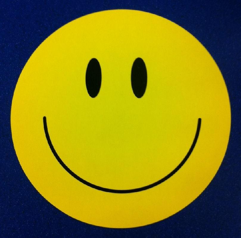 Vintage Groovy 1970s Huge Hippie Smiley Face Sticker 7 Inch