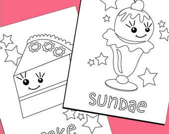 Popular items for printable pdf on etsy for Sweet treats coloring pages