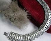 Vintage Weiss Rhinestone bracelet VJSE