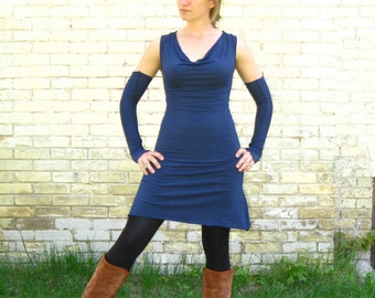 Drape Neck Dress (Soy or Bamboo Organic Cotton)