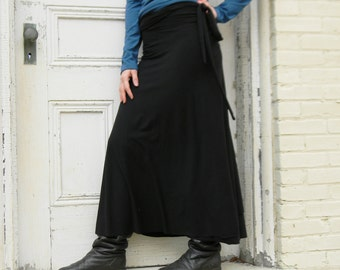 Organic Full Length Wrap Skirt (Soy or Bamboo Organic Cotton)