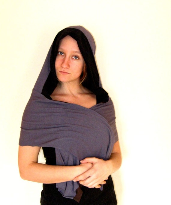 Reversible Hooded Scarf (Soy and Bamboo Organic Cotton)
