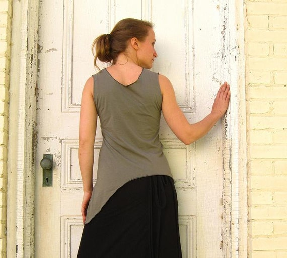 Angled Tank Top - (Soy or Bamboo Organic Cotton)