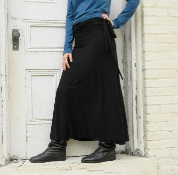Organic Full Length Wrap Skirt (Soy or Bamboo Organic Cotton)