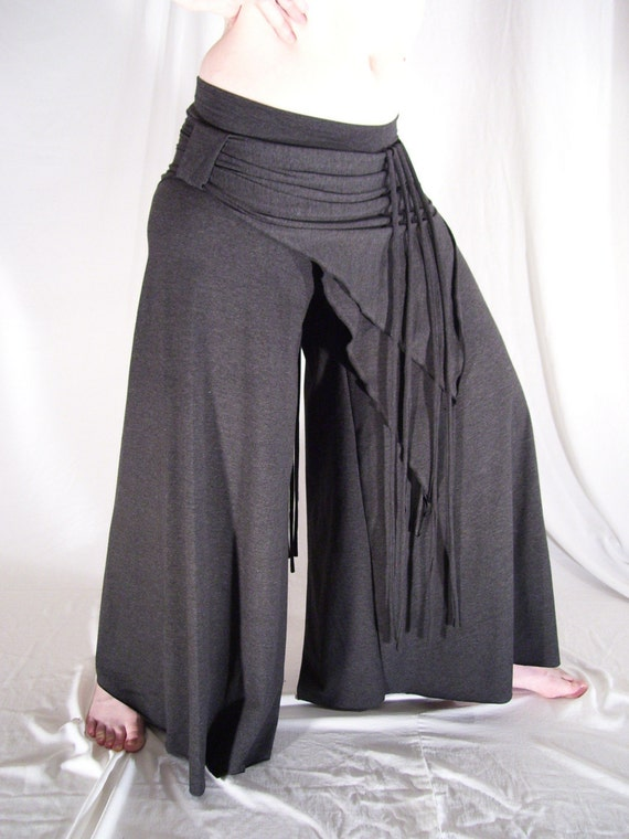 Yoga tribal bellydance VERY comfy pants charcoal - YOUR SIZE