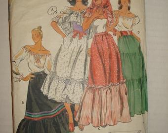 SALE*** Butterick 5375 Misses Skirt & Scarf Size 28